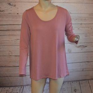 LulaRoe Dusty Rose Pink Long Sleeve Tunic M